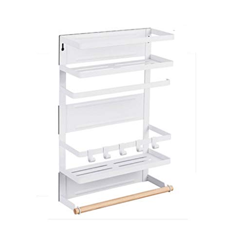 QINGHON Caja de almacenamiento del refrigerador refrigerador magnético ventosa de almacenamiento laterales de la parrilla, funcional multi-Box Espacio de almacenamiento, multi-capa de cocina Bastidore