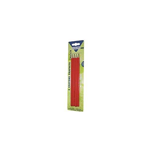 Crayons de bois x 4 - HB