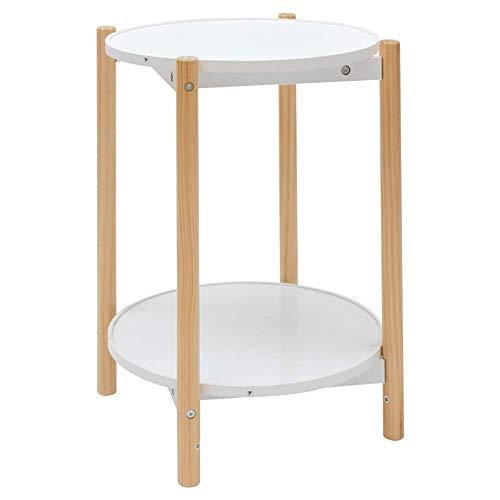 BDD Klapptisch Massivholz Couchtisch Zwei Schichten Disc Abnehmbarer Multifunktionssofa Seitenschrank Nachttisch