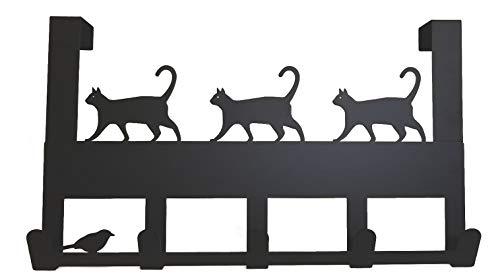 Mango Steam Over-The-Door Hanger Cat Black