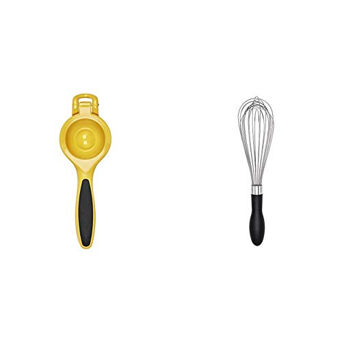 OXO Good Grips CItrus Squeezer,Yellow/Black,10-1/2 in L x 1-1/2 in W x 4.24 in H & Good Grips 11-Inch Better Balloon Whisk