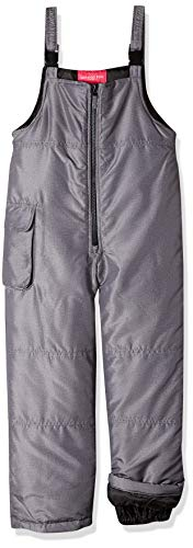 LONDON FOG Girls' Big Classic Snow Bib Ski Snowsuit, Grey, 7/8
