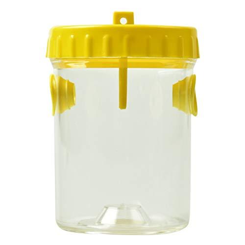 Poseca Transparente Flasche mit 2 Öffnungen, Flaschenform, Bienenenfangenfänger, Imkerausrüstung, Imkerwerkzeuge