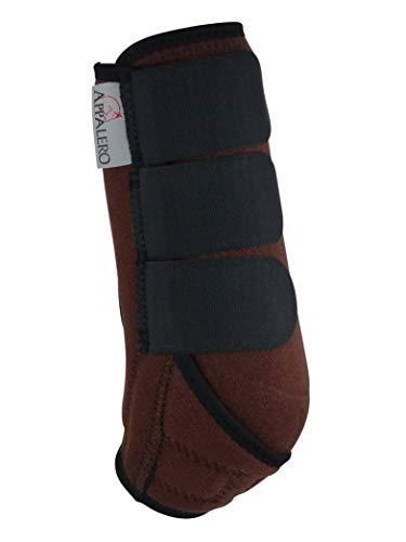 APPALERO Horse Boots V3, Gamaschen, Paar oder 4er Set, Größe Cob, Braun (2 Stück, Braun)