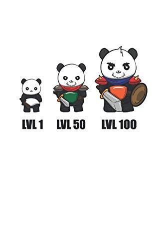 Notizbuch: Gamer Panda Dungeon Rpg Tabletop Lustig Geschenk 120 Seiten, 6X9 (Ca. A5), Karomuster