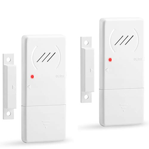 WSDCAM Refrigerator Alarm When Opened 60 Seconds Time Delay, 90dB Loud, Ultra-slim Wireless Fridge Alarm Door Open Alarm, Freezer Door Alarm with Delay - 2 Pack