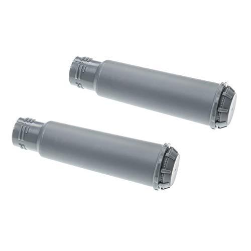 vhbw 2x Wasserfilter Filter passend für Krups One-Touch Smart Silver EA860e Kaffeevollautomat, Espressomaschine - grau