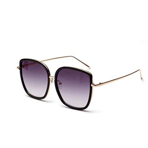 Trada Sonnenbrillen, Fashion Neutral Large Frame Sonnenbrille Sonnenbrille Integrierte UV-Brille Damenbrillen Herrenbrillen Frauen Retro Vintage Brille Nachtsichtbrille Eyewear Travel (Schwarz)