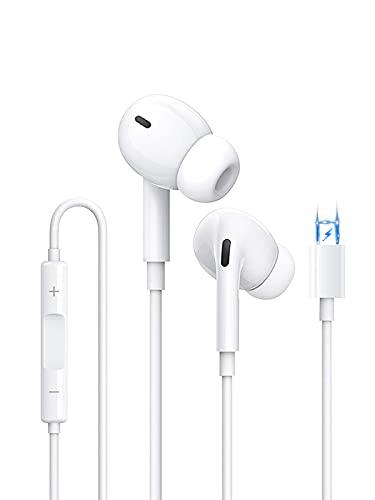 Auricolari per iPhone, Cuffie Accoppiati con Isolamento Acustico Supporto Controllo del Volume e del Microfono Compatibile con iPhone 12/11/11 Pro/XS/X/XR / 8/7/7 Plus per Tutti Gli i0S (Bianco)