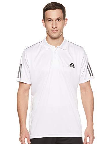 adidas Herren Poloshirt Club 3-Streifen, White/Black, XL, DU0849