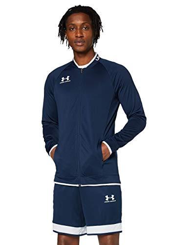 Under Armour Challenger III Jacket, chaqueta de hombre para hacer deporte, ropa de deporte de hombre inspirada en las chaquetas bomber hombre, Azul (Academy/Halo Gray (408)), L
