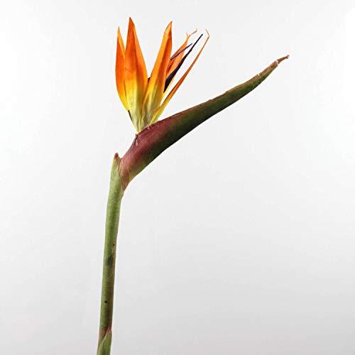 artplants.de Strelizia Artificiale, Arancione/Ametista, 94cm, 24x17cm - Fiore Artificiale/Fiore Tropicale
