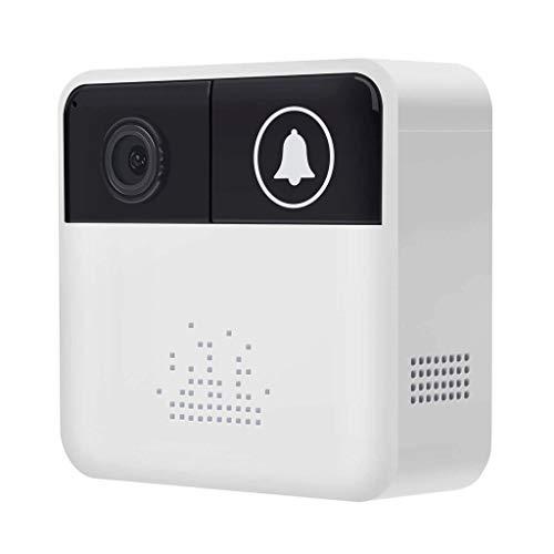 CXXDD Video sin Hilos del hogar del Timbre de cámaras de Seguridad Full HD, Audio bidireccional, detección de Movimiento, Asistente de Ayuda