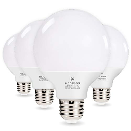 Hansang G25 LED Globe Light Bulbs,60W Equivalent 5000K...