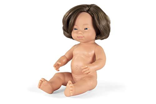 Miniland- Muñeco bebé Europea Down 38cm. (31088)