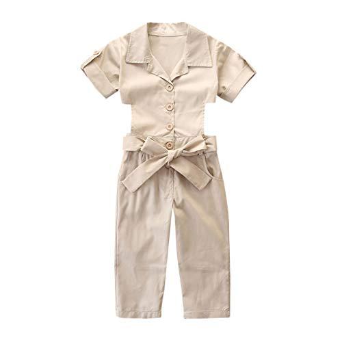 Kleinkind Baby Mädchen Solide Kurzarm Rückenfrei Overall Overall Outfits