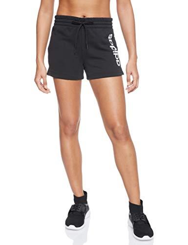 Adidas Essentials Linear Logo, Pantaloncini Donna, Nero (Black/White), M 44-46