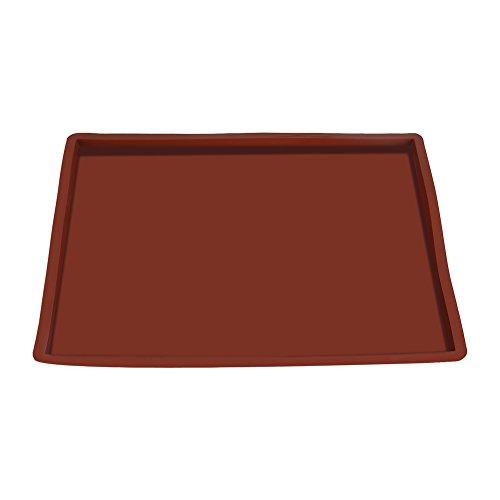 Silikon Backmatte, Asixx Backblech-Auflage Temperaturbeständig -50 ℃ -220 ℃ für Öfen, Mikrowellen, Geschirrspüler und Gefrierschrank, 36 x 28 x 1,5 cm