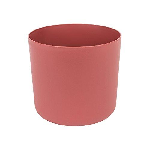 Classique cache-pot en plastique Aruba 17 cm en pastel bordeaux couleur