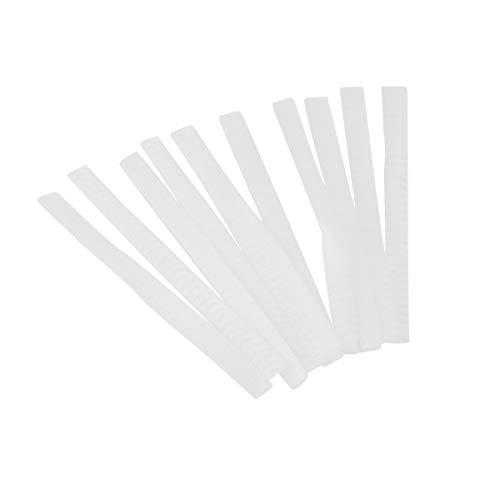 Greatangle 10 Pcs/Set Maquillage Utile Maquillage Cosmétique Pinceau Stylo Blanc Couverture De Filet Protecteurs De Gaine Maille Gardes Gaine Net
