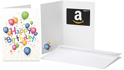 Amazon.co.uk Gift Card for Any Amount in a Happy Birthday Balloons Greeting Card
