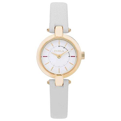FURLA Damen Datum klassisch Quarz Uhr mit Leder Armband R4251106502
