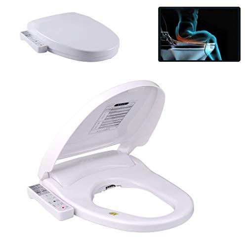 Thuis intelligent elektronisch toiletdeksel V type, U-type verwarmde toiletbril, anale reiniging dubbele uitloop, deodorant, spoelen, verwarmen, drogen
