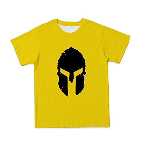 T-shirt z nadrukiem w jednolitym kolorze z trójwymiarowym letnim męskim hełmem
