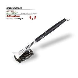 Moesta-BBQ 10218 Brush No. 1 - Die 100% Edestahlbürste unter den Grillbürsten - Robuste Drahtbürste für den Grill