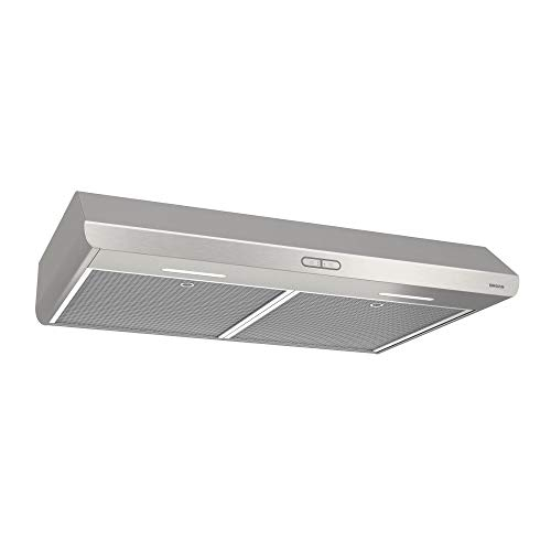 Broan-NuTone BKDB136SS Sahale Range Hood with LED Light Convertible Design Exhaust Fan for Under Cabinet, 250 CFM, 36-Inch, Stainless Steel
