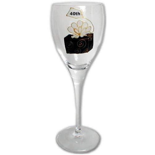 ANNIVERSAIRE BOITE 40th simple vin blanc