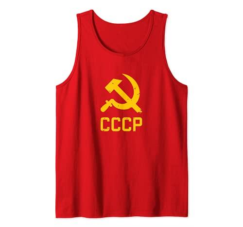 CCCP La hoz y el martillo Rusia soviética Comunismo Rojo Camiseta sin Mangas