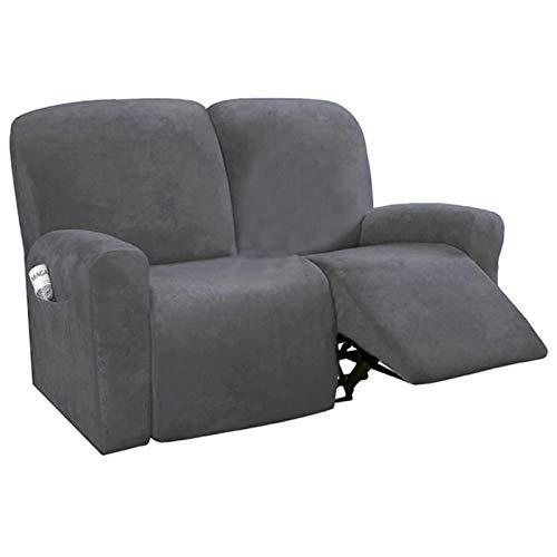 Sofá reclinable de 2 Asientos Funda para SillaTodo Incluido Sofá Antideslizante Funda para sofá Funda Antideslizante Reclinable elásticoProtector para sofá de Masaje-Funda reclinable S3