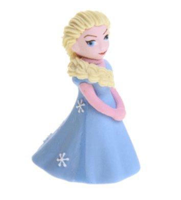 Sujet statue statuette REINE DES NEIGES ELSA 3D EN SUCRE reine des neiges disney en sucre elsa pouvoir magique frozen - pour decor gateau anniversaire - spécial contact alimentaire