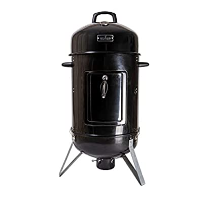 Humos Outdoor Vertical Charcoal Smoker 3 in 1: Oven + Smoker + Grill (18 inch)