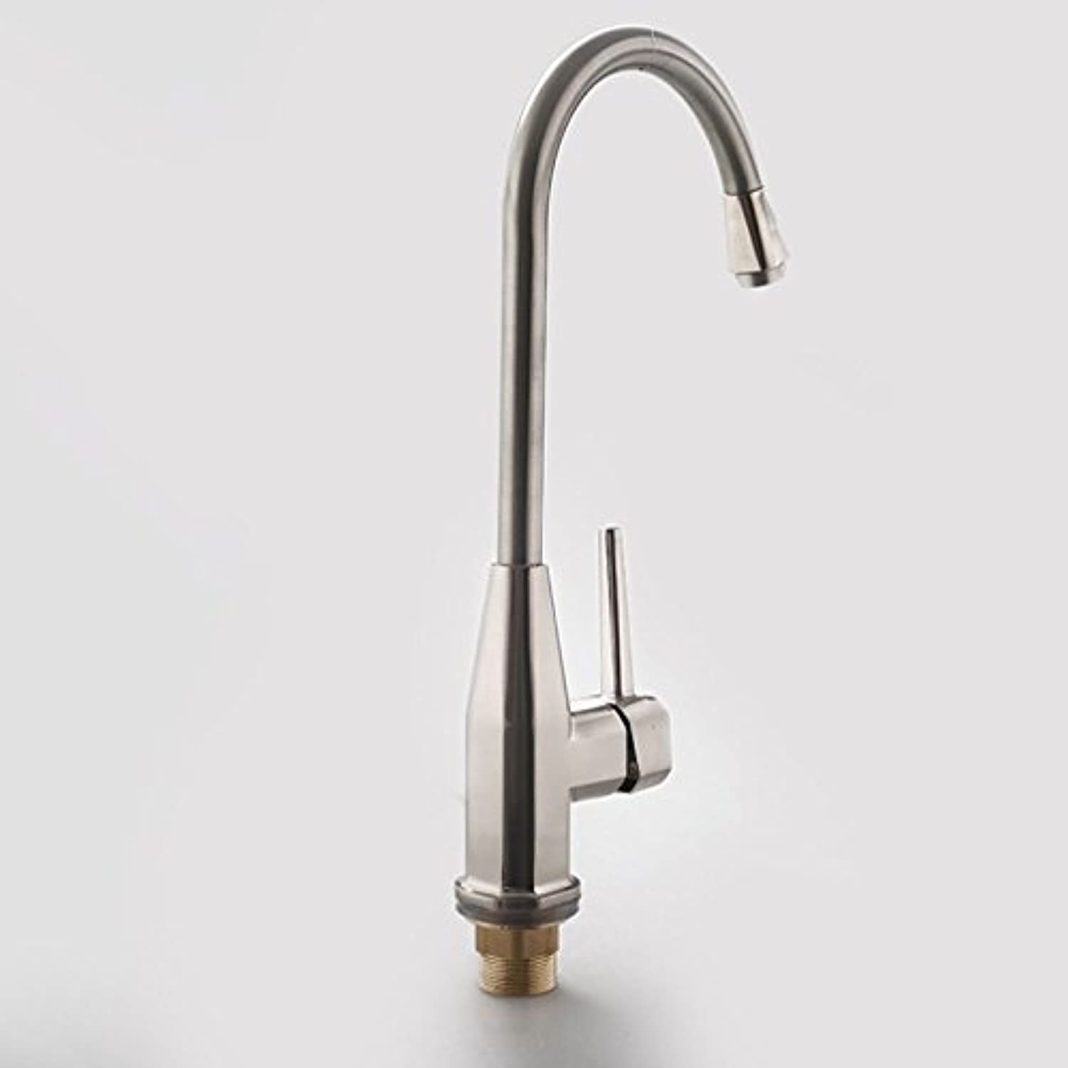 Commercial Single Lever Pull Down Kitchen Sink Faucet Brass Constructed Polished Stainless Steel Kitchen Faucet, Hot and Cold Sink Faucet, Swivel Laundry Sink Sink Faucet