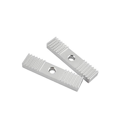 PYunLi-Correa de distribución 2pcs aley de aleación de dientes de aleación 2 mm, cinturón de tiempo de la hoja de aluminio GT2, pinza de fijación Clip fijo 9 * 40mm Piezas de repuesto de calidad