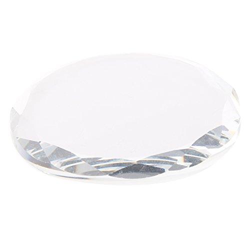 Gazechimp Cristal Ronde Palette Support Pour Porte Colle Extension de Cils Support Adhésive Titulaire Rond Pad