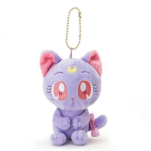Lsdnlx Llavero,Moon Luna Cat Mini Llavero de Felpa para niños Juguetes de Peluche pequeño Pandent para niños Regalos 14CM