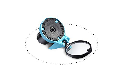 THE BEAM Bicicleta de Carreras-e-Bike-Aerodinámico-Diseño-Montaje en el Manillar-Corky by, Adulte Unisexe, Azul, Diámetro del Espejo 32 mm