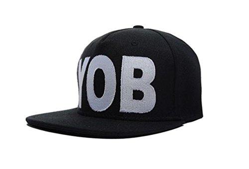 Underground Kulture YOB Casquette de Baseball Réglable Noir (Black Snapback)