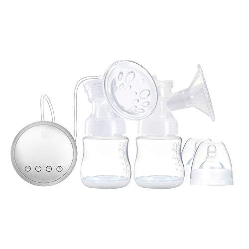 Duotar Bomba Tira Leite Elétrica Automática,Bomba de mama elétrica dupla portátil recarregável, seguro e sem BPA, modo duplo de massagear e bombear 9 níveis de sucção Bombeamento de leite