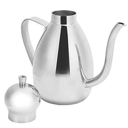 CjnJX-Vases Mini Botella de Aceite 304 dispensador de Aceite de Acero Inoxidable Recipiente de vinagre Spray de Aceite de Oliva para Ensalada Accesorio de Cocina(0,5 L)
