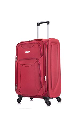24' Medium Super Lightweight 4 Wheel Suitcase Luggage Expandable with Wheels