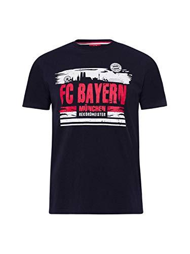 FC Bayern München T-Shirt Skyline blau, XL
