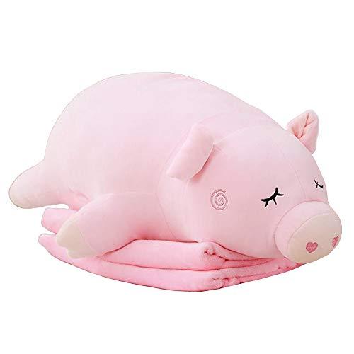 """Myconvoy Schönes Kissen Lesekissen Hugging Pillow Lesekissen fürs Bett für Kinder Multifunktions DREI-in-One Plüschkissen 29.5"""" (Pig)"""