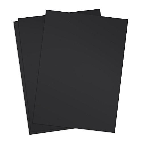 TruBind 8-1/2 x 11 Inches 12 Mil Sand Texture Polycovers - Pack of 100, Black (CSD12-ASBK)