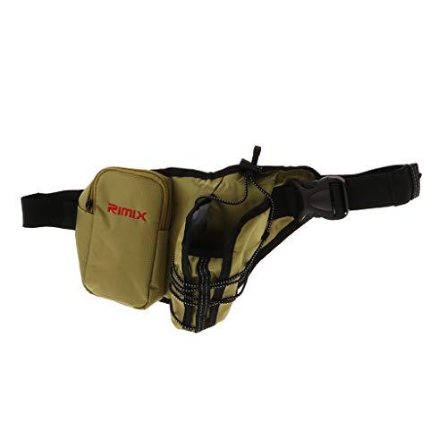 Homyl Sac de Sport Ceinture Banane, Taille Pack Clés Téléphones Mobiles Poche Porte-Bouteille pour Hommes Femmes Camping Escalade - Couleur 1, comme décrit