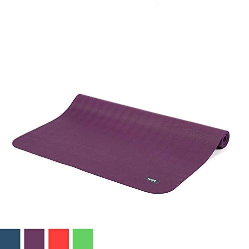 Reise-Yogamatte ECOPRO TRAVEL, Antirutsch-Yogamatte, 1,3 mm superleicht & faltbar, extrem rutschfest, Natur-Kautschuk (violett/lila)