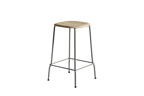 HAY - Soft Edge 30 Bar Stool - Eiche matt lackiert - hellgrau - 75 cm - Iskos - Berlin - Design - Barhocker - Hocker